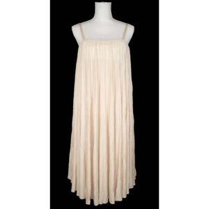 CELINE 42 Pleated Crinkled Jersey Dress Silk Blend
